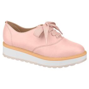68df1eaa71 Sapato Feminino Oxford Beira Rio Conforto Flatform Rosa
