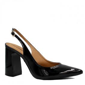 b489bfb3c Sapato Feminino Cecconello Chanel Verniz Fivela Ci19002