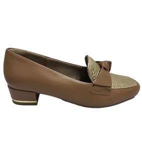 2934ae62a6 Sapato Mocassim Com Salto Anabela Usaflex Para Joanetes 0202. Minas Gerais  · Sapato Usaflex Soft Slim Camel dourado