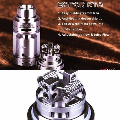 sapor rta by wotofo original atomizador, cigarro electronico