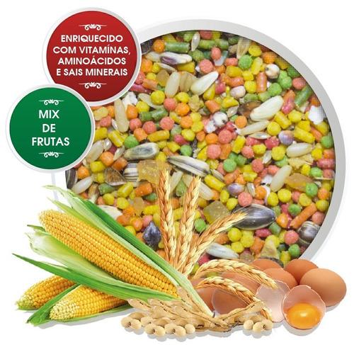 saporito mix ração - alimento para trinca ferro pássaros 5kg