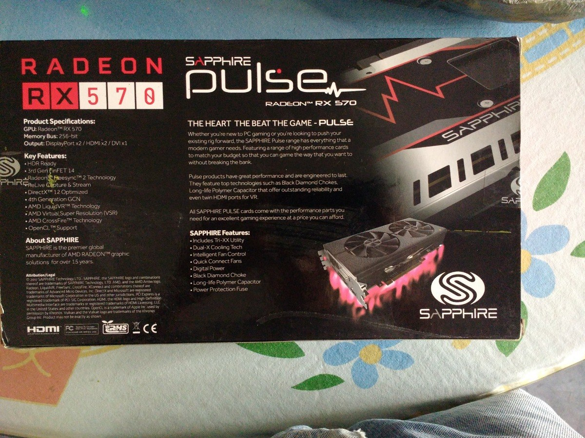 Sapphire Pulse Rx 570 Amd 4 Gb (poco Tiempo De Uso) - $ 3,000 00
