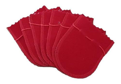 saquinho de veludo ( m ) pacote com 100 saquinhos para jóias