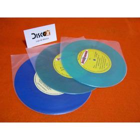 Saquinho Plástico Redondo Interno Disco Vinil Compacto 200x