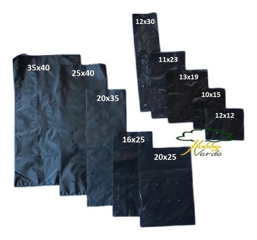saquinho saco plástico para mudas - 16 x 25 x 0,10 - 1000 ud