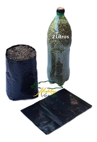 saquinho saco plástico para mudas - 20 x 25 x 0,10 - 20 ud