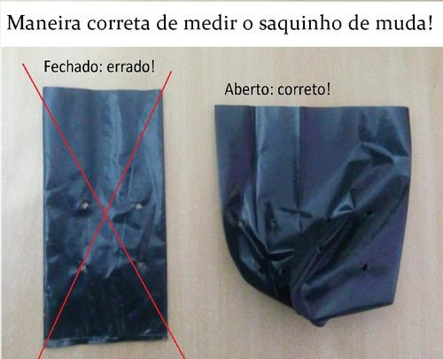 saquinho saco plástico para mudas