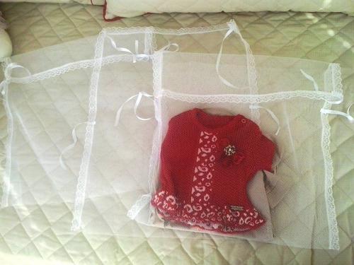 saquinho tule maternidade pacote 3unidades 40cm x 40cm