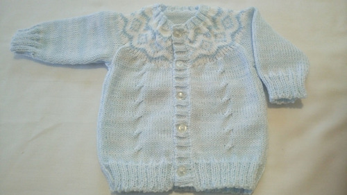 saquito bebe guarda pampa.tejido,lana e hilo antialerg.0-3m