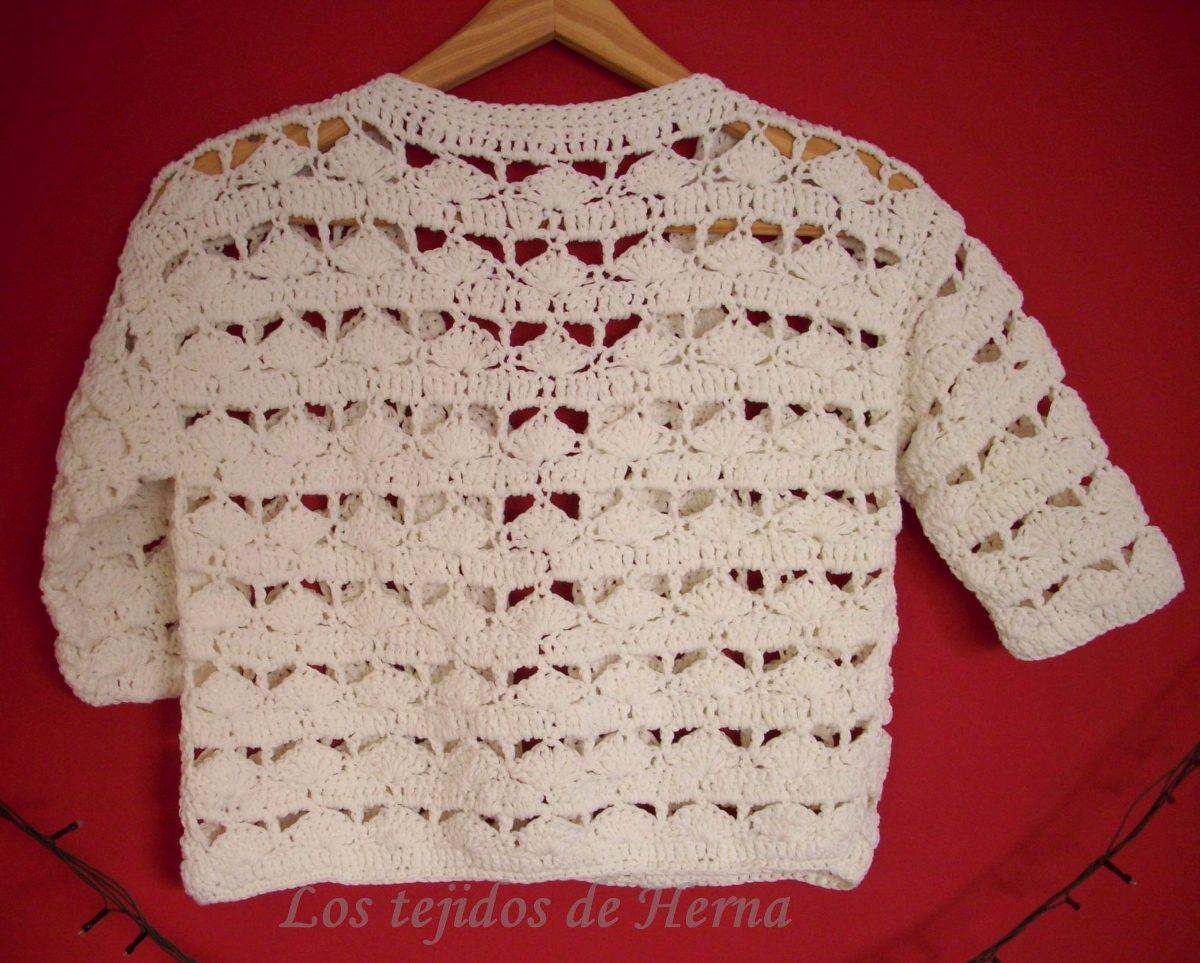 Saquito - Bolero De Algodón Tejido En Crochet - $ 540,00 en Mercado ...
