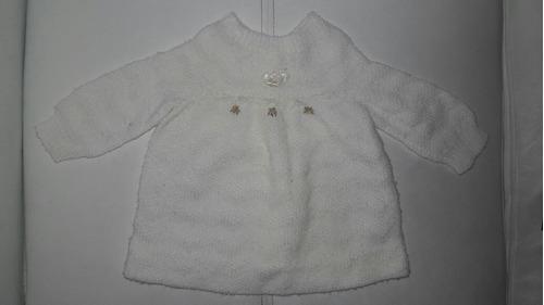 saquito de lana hilo bata batita de beba nb 0 3 meses divina