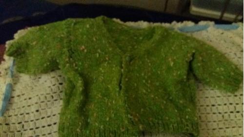 saquito lana tejido a mano artesanal