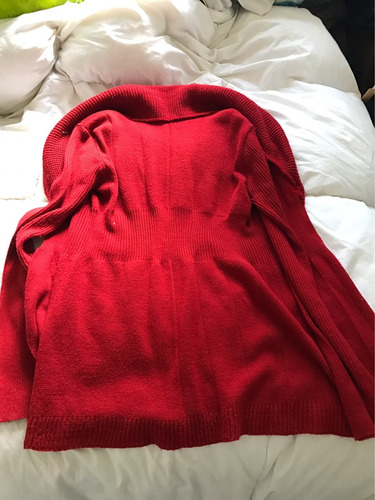 saquito mujer rojo talle s