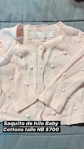 saquito recién nacido baby cottons usado