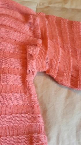 saquito sweater calado manga 3/4