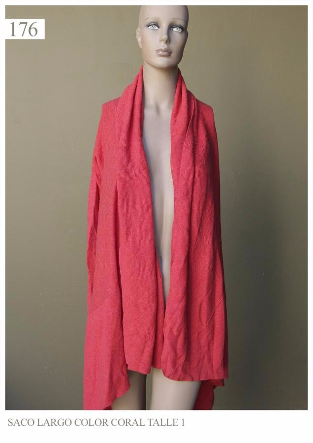 Saco Saquito Sweaters Sweater Coral Mujer Feria Americana -   476 16c815b23fff