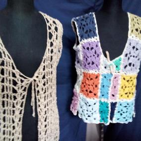 1e440dc00 Chaleco De Hilo Tejido Al Crochet Flecos Propuestas - Wallpaperzen.org