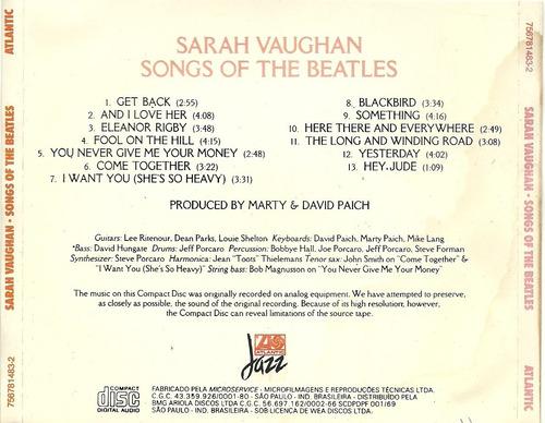 sarah vaughan songs of the beatles