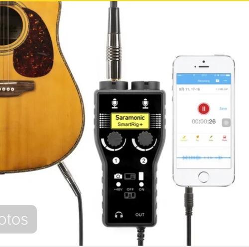 saramonic smartrig+ 2-channel xlr/3.5mm microphone audio