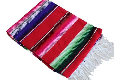 sarape de saltillo artesanía 100% mexicana chico 90x190 cms