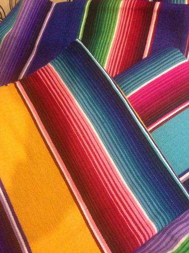 sarape de saltillo artesanía 100% mini 50x70 cms (3pack)