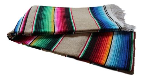 sarape de saltillo artesanía chico 90x190 cms (especial)