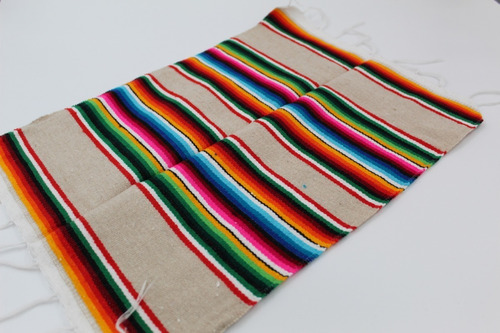 sarape de saltillo miniatura artesanía 32x45cm (100 pzas)