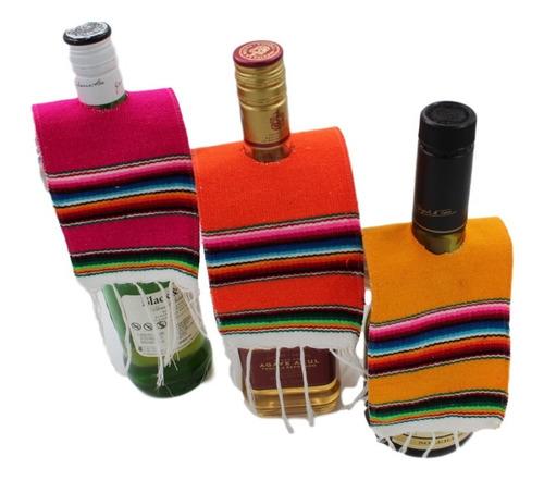 sarapes miniatura para botella 10x28 cms (36 pack)