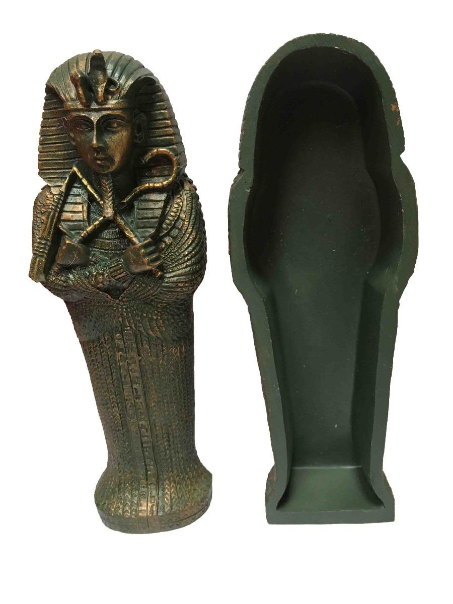 Sarcofago Farao Estatua Tutankamon Egito Egipcio Resina 20cm R
