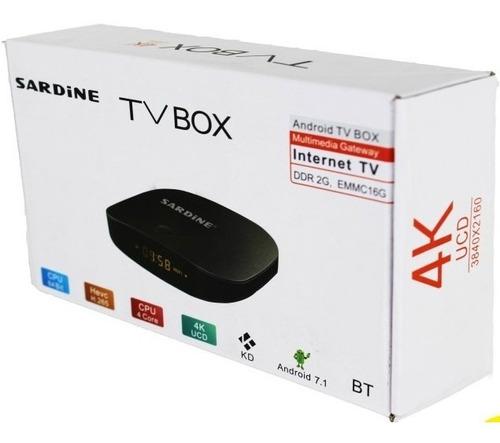 sardine android tv box 4k uhd android 7.1 ram 2gb rom 16gb