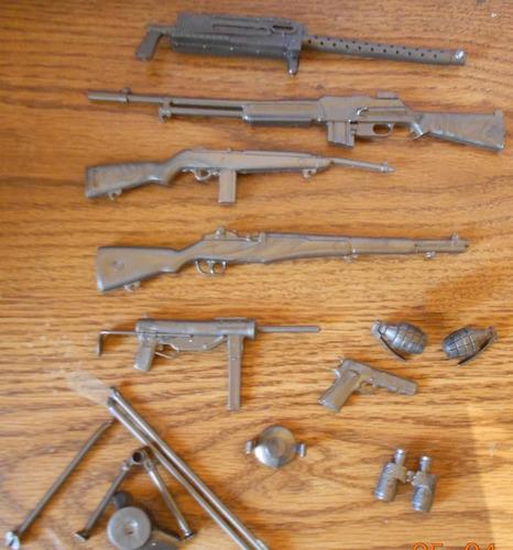 sargento stony set de armas completas marx plastimarx