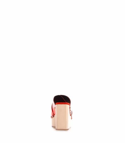 sarkany ruse - sandalia cuero mujer plataforma madera
