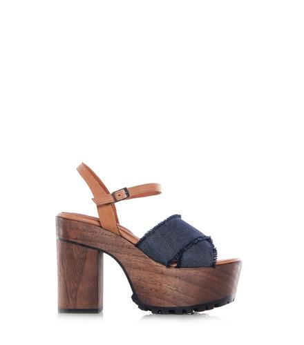 sarkany terry - sandalia mujer madera alta