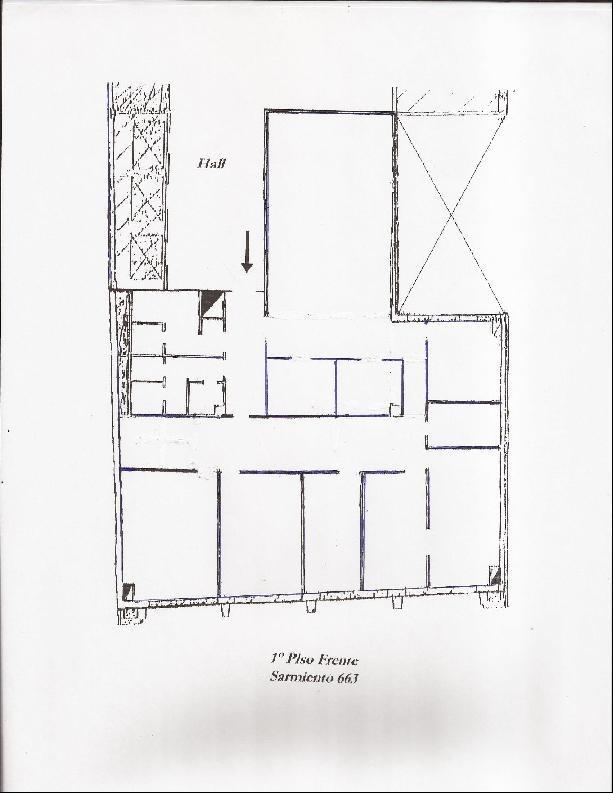 sarmiento 600 1-b - microcentro (comercial) - oficinas planta dividida - alquiler