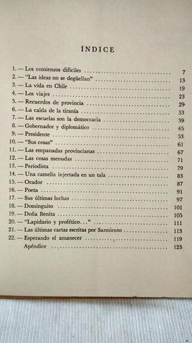 sarmiento. bernardo gonzález arrilli. editorial nobis 1964.
