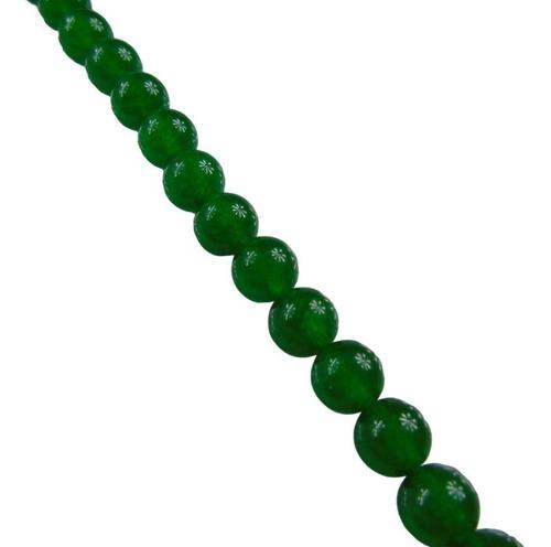 sarta de piedra natural agata verde de 4mm