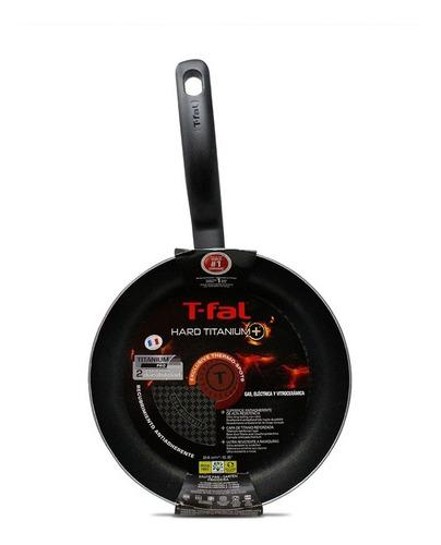sartén 24 cm con antiadherente hard titanium negro t-fal b2540482