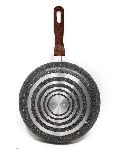 sartén 28 cm antiadherente stone mango madera lamex 6646-0
