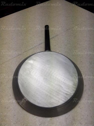 sartén 39 cm inoxidable - inducción - uso extra rudo grande