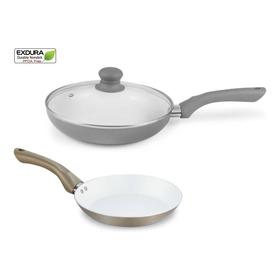 Sarten Cerámica Blanco Marca Exdura 26cm Cocina/topes