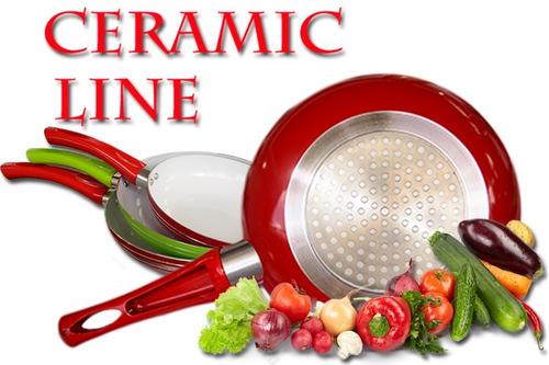 sarten ceramica ceramicore ceramic line 18,20,22cm