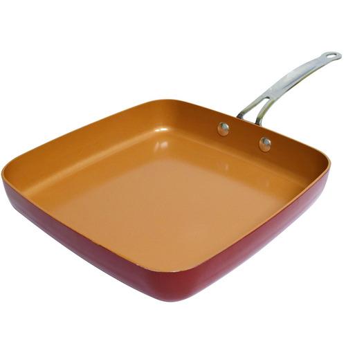 sarten cuadrado antiadherente acero inoxidable red copper