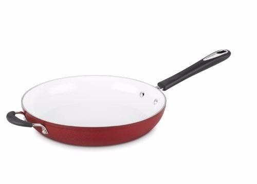 sartén cuisinart elements open skillet, 10-inch, red