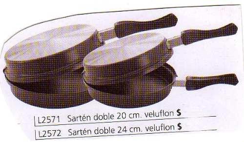 sarten doble con antiadh. veluflon nro.20