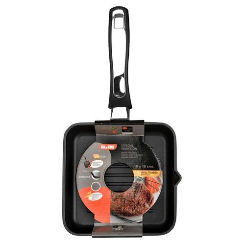 sarten  grill  18x18 cm  marca  ibili