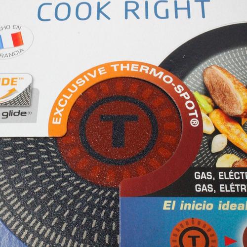 sartén wok c/antiadherente 28 cm cook right t-fal b3511982