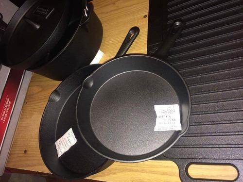Sartenes de hierro fundido curado 1 en mercado - Sartenes hierro fundido ...