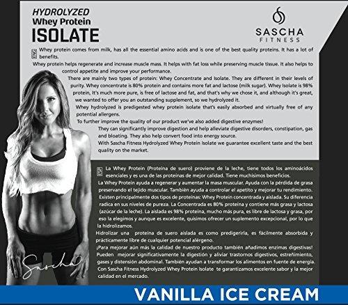 sascha fitness hydrolyzed whey protein isolate, 100%