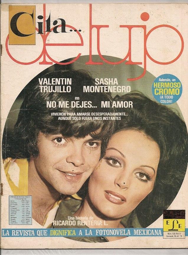 Sasha Montenegro Valentín Trujillo Revista Fotonovela 1976. Cargando Zoom.