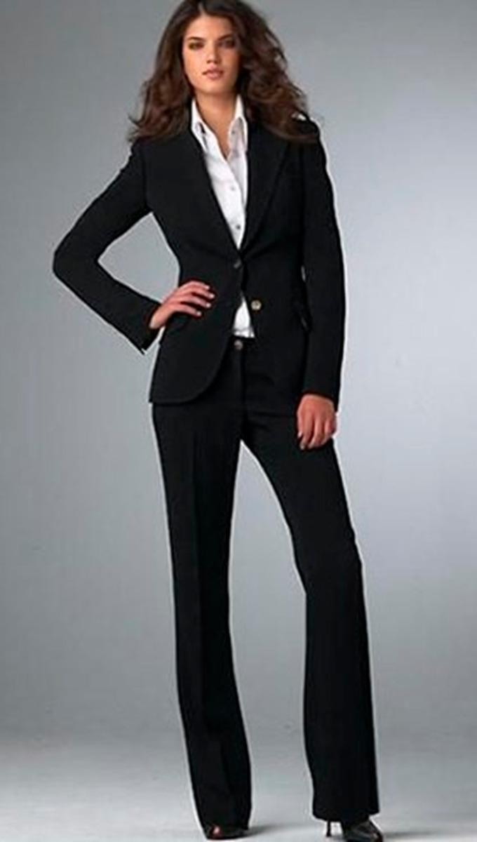 964b7544f Sastre Terno Traje De Vestir Mujer Negro Blusa Blanca M - S  80